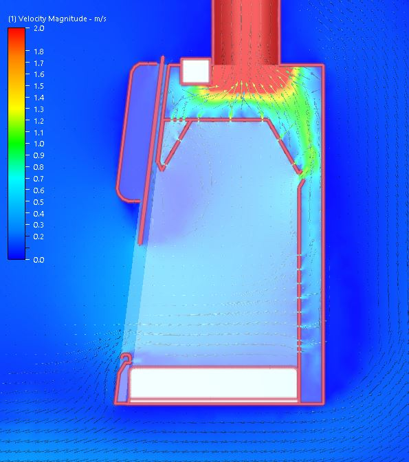 Metisafe High Performance Fume Hood CFD